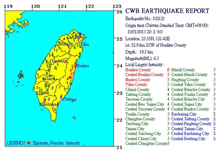 Фото с сайта Центрального метеорологического бюро Тайваня