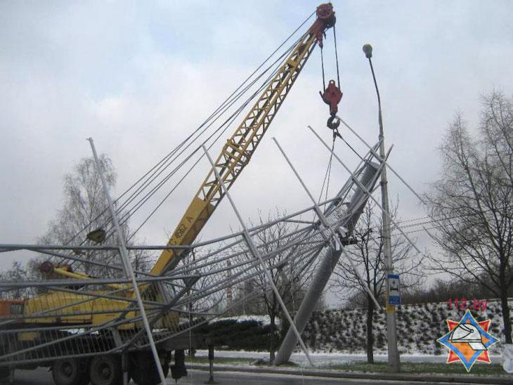 Бобруйск, 2 декабря 2013 года. Фото с сайта МЧС Республики Беларусь