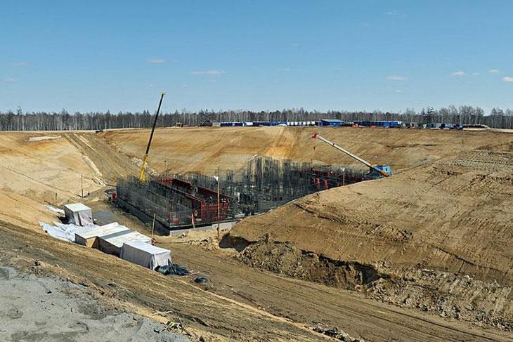 """Строительство космодрома """"Восточный"""", апрель 2013 года"""