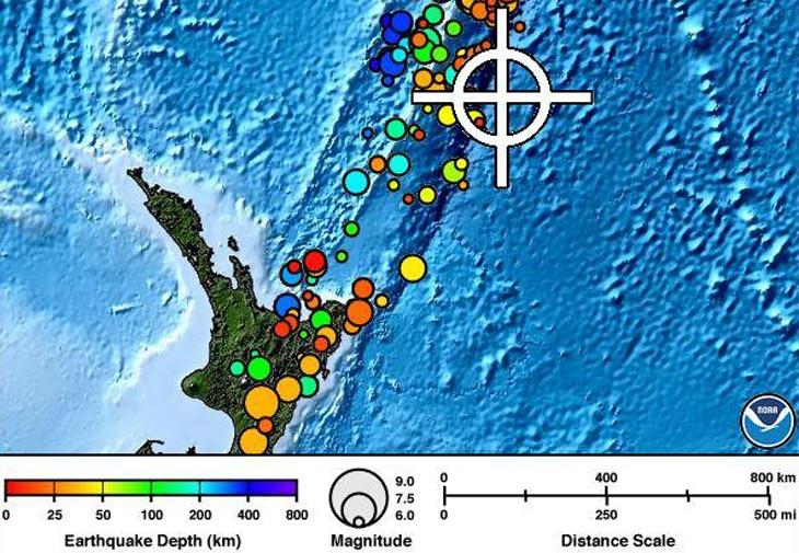 Карта с сайта PTWC