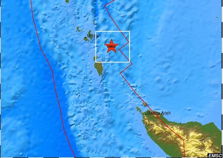 Карта с сайта EMSC