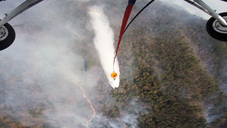 Тушении природного пожара в Партизанском районе.  Фото с сайта Администрации Приморского края