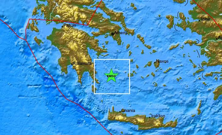 Половина Греции ощутила землетрясения в Эгейском море