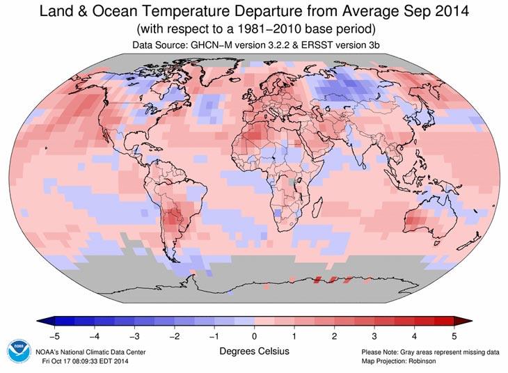 Карта с сайта NOAA National Climatic Data Center