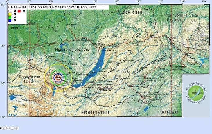 Карта с сайта Байкальского филиала ГС СО РАН