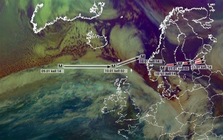 Изображение с сайта Национальной службы погоды Эстонии