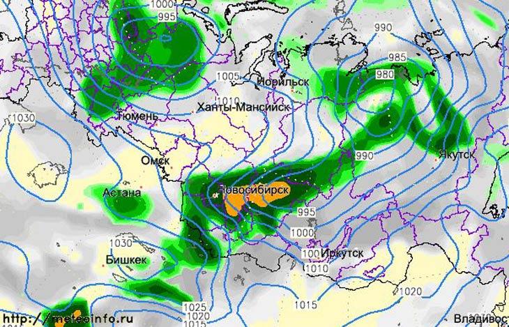 Карта с сайта Гидрометцентра России