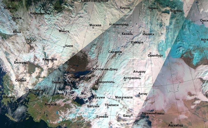 """Изображение НИЦ """"Планета"""" с сайта Гидрометцентра России"""