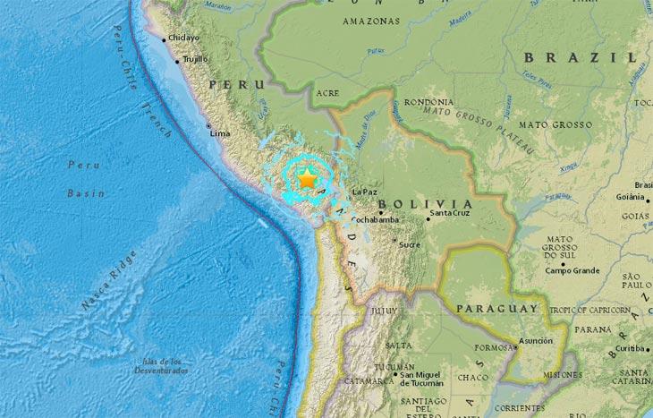 Карта с сайта USGS