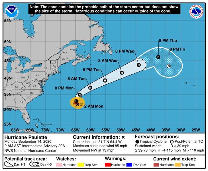 Ураган «Полетт» обрушился на Бермуды